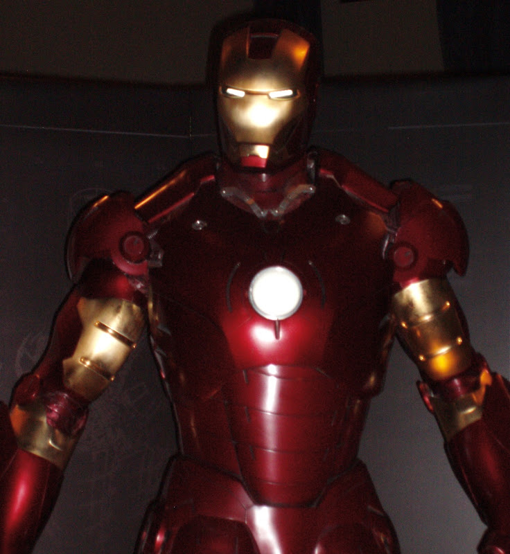 Actual Iron Man suit close-up
