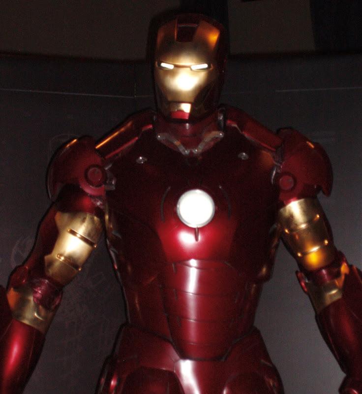Actual Iron Man suit close-up