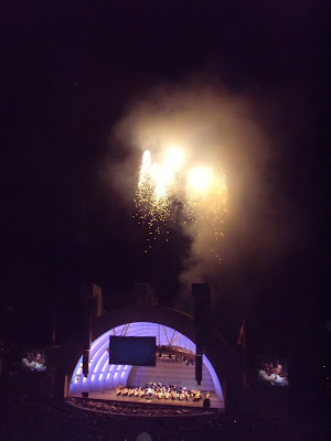 Hollywood Bowl Prokofiev fireworks lightshow