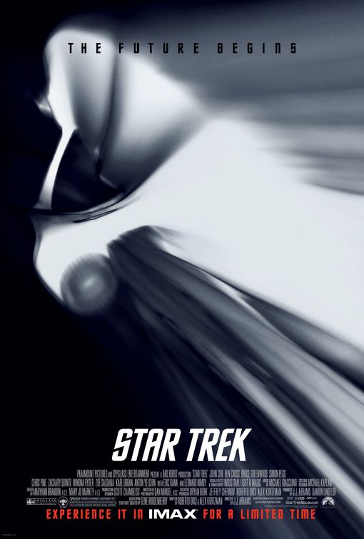 Star Trek Enterprise warp speed movie poster