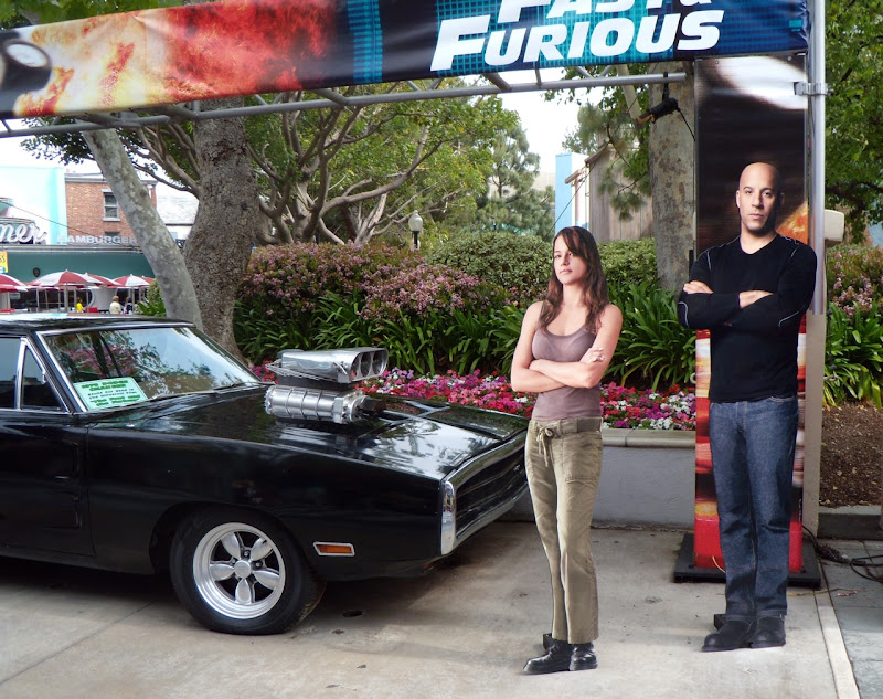 Vin Diesel and Michelle Rodrigues movie stars and cars