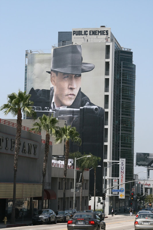 Public Enemies billboard on Sunset Blvd