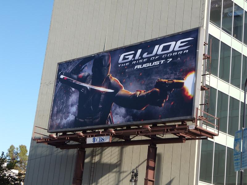 GI Joe Rise of Cobra movie billboard