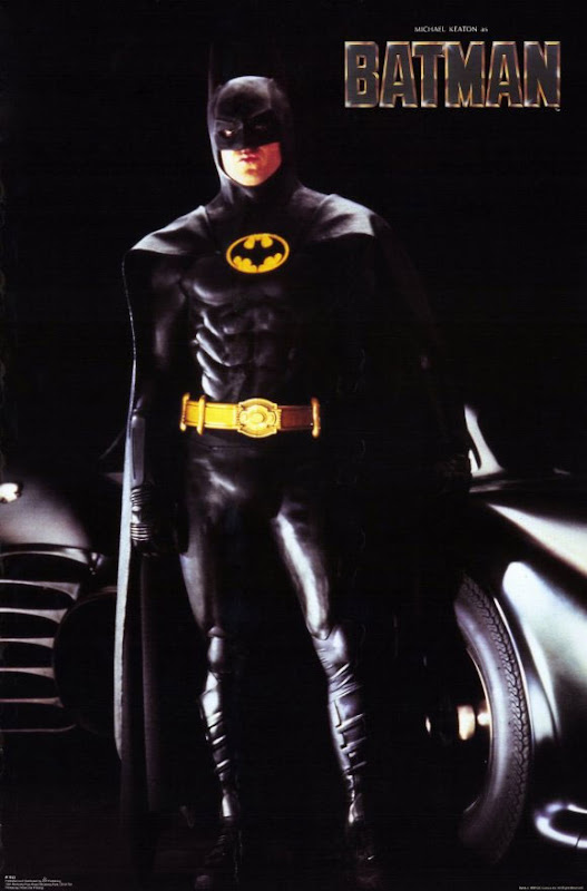 Michael Keaton's Batman with the Batmobile