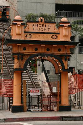 Angels Flight funicular railway lower entrance