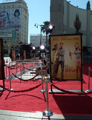 All About Steve film premiere set-up