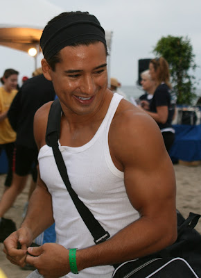 Mario Lopez at Zuma Beach Triathlon