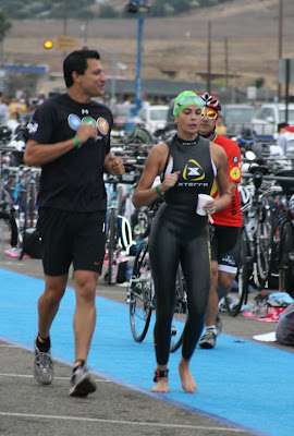 Teri Hatcher in her wetsuit at Malibu Triathlon