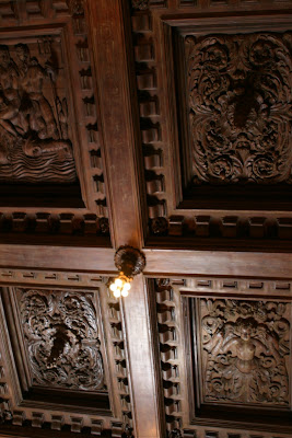 Hearst Castle antique wooden ceilings