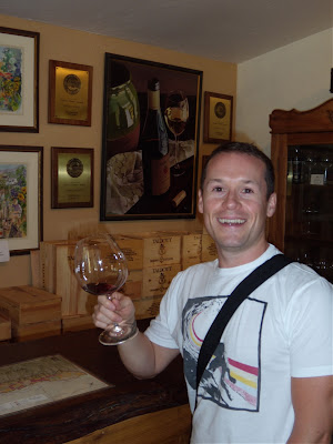 Jason wine tasting at Talbotts Carmel Valley