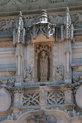 Hearst Castle angel adorned masonry