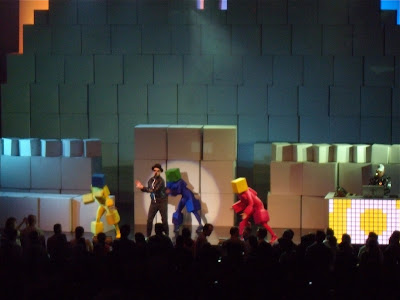 Pet Shop Boys on stage in LA