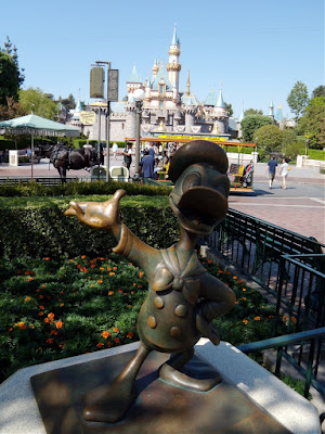 Donald Duck sculpture at Disneyland