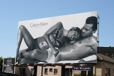 Calvin Klein sexy male model underwear billboard