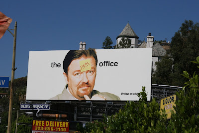 Rickey Gervais British The Office TV billboard