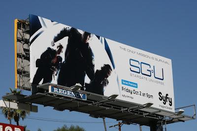 Stargate Universe TV sci-fi billboard
