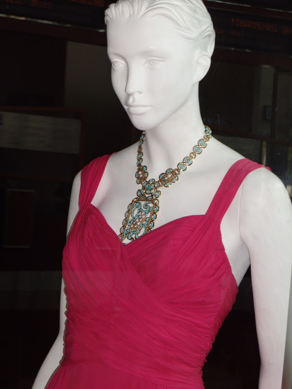 Rosamund Pike's film costume and jewelry from An Education