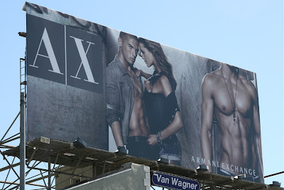 Hot Armani Exchange male model billboard