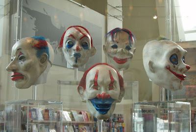 Clown masks from The Dark Knight
