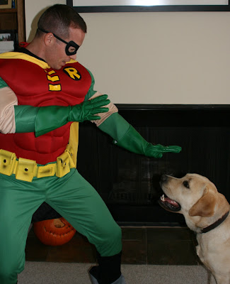 Halloween Cooper vs Teen Titan Robin