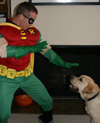 Halloween Cooper vs Teen Titan Robin
