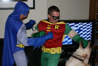 Superhero costume fun