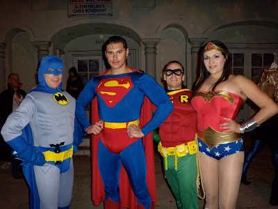 Justice League Heroes at West Hollywood Halloween Carnaval 2009