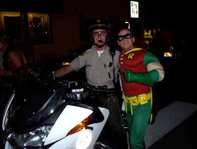 West Hollywood Halloween real cop and Robin