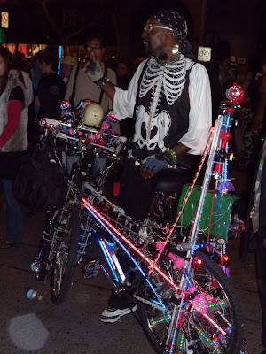 West Hollywood Halloween Carnaval 2009 glow in the dark disco bike