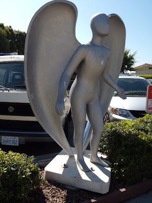 Malibu PCH angel statue