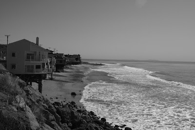 Beach houses along the Malibu coast