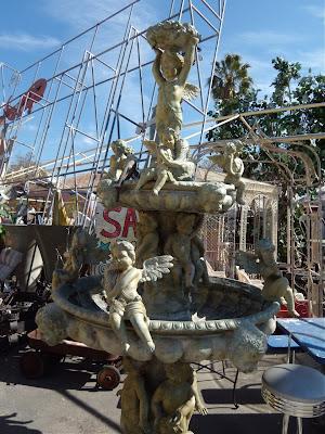 Ornate angel fountain