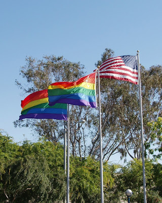 West Hollywood Pride flags