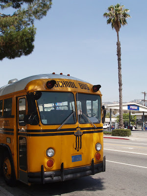 Yellow Los Angeles school bus