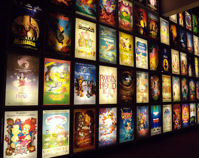 Animation poster wall ArcLight Sherman Oaks