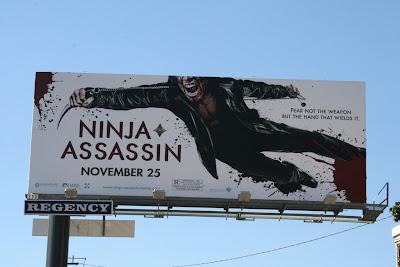 Ninja Assassin movie billboard