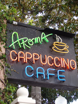 Aroma Cafe sign on Tujunga Avenue