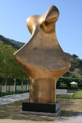 Henry Moore Bronze Form sculpture at The Getty
