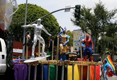 West Hollywood Gay Pride Parade Marvel heroes Jun 09
