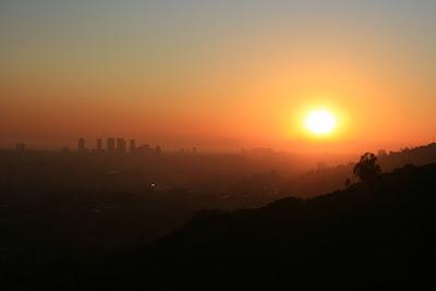 Runyon Canyon LA December sunset