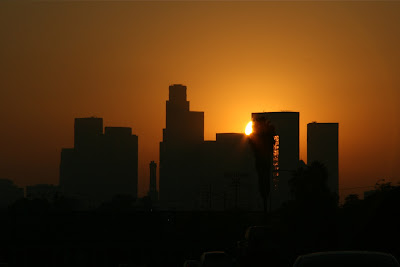 SEptember Downtown LA sunset