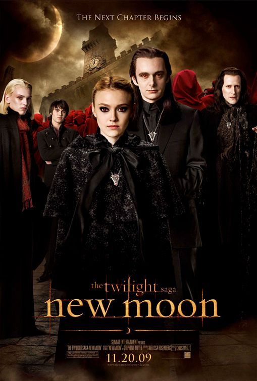 Twilight New Moon vampires movie poster