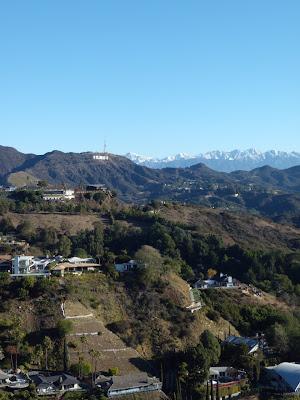 Snow capped LA mountains