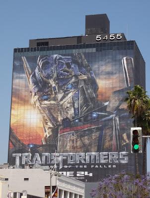 Optimus Prime Transformers 2 billboard