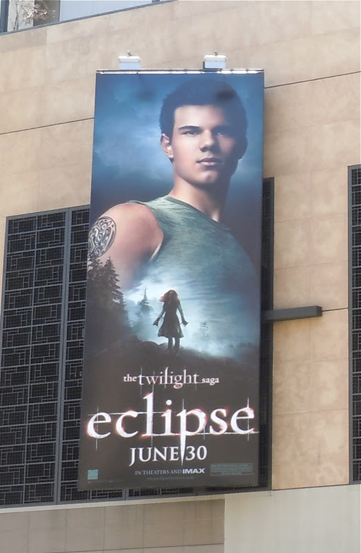 Twilight Eclipse Jacob movie billboard