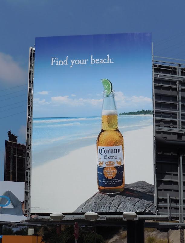 Corona Find your beach billboard