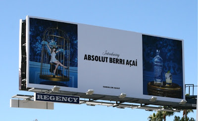 Absolut vodka Berri Acai billboard