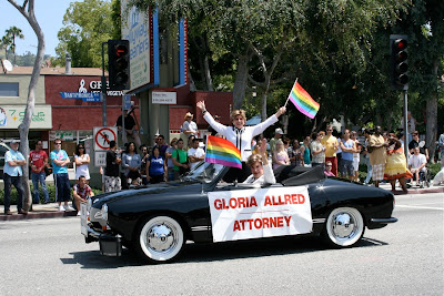 Gloria Allred Attorney West Hollywood Pride 2010