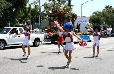 West Hollywood Pride Parade cheerleaders 2010