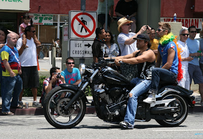 Gay bikers West Hollywood Pride 2010